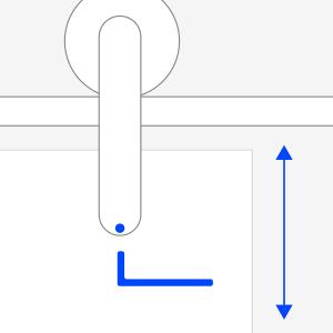Höhenverstellung der Tür nach Montage möglich