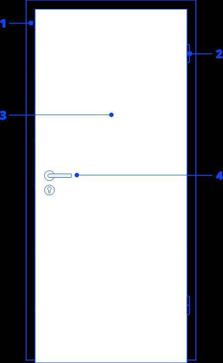 Grundelemente einer Tür