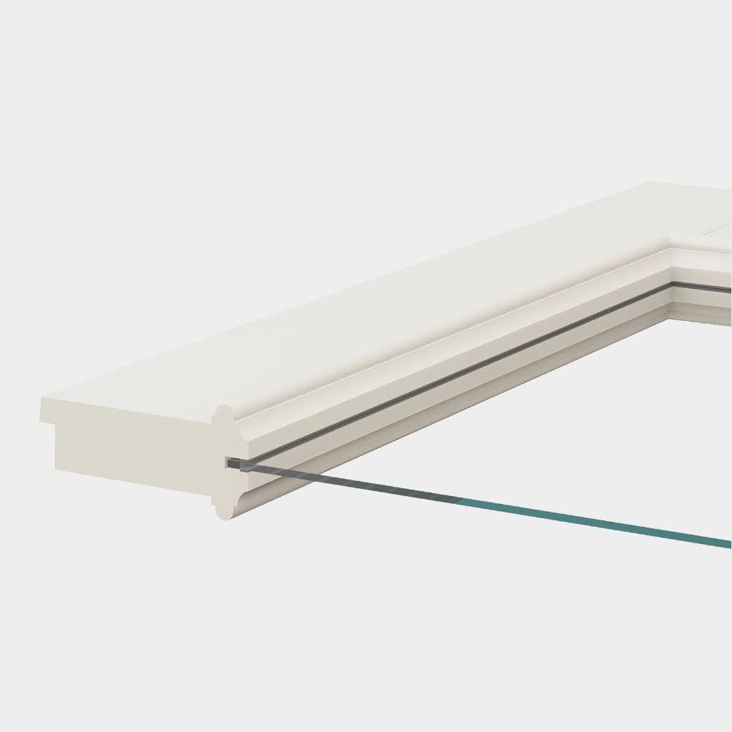 Türblatt mit Lichtausschnitt und Glasleisten