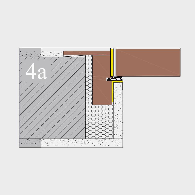 Zargensystem 4A FLAT-VD wandbündig