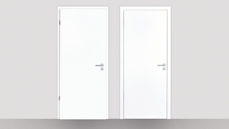 Gefälzte und stumpfe Tür