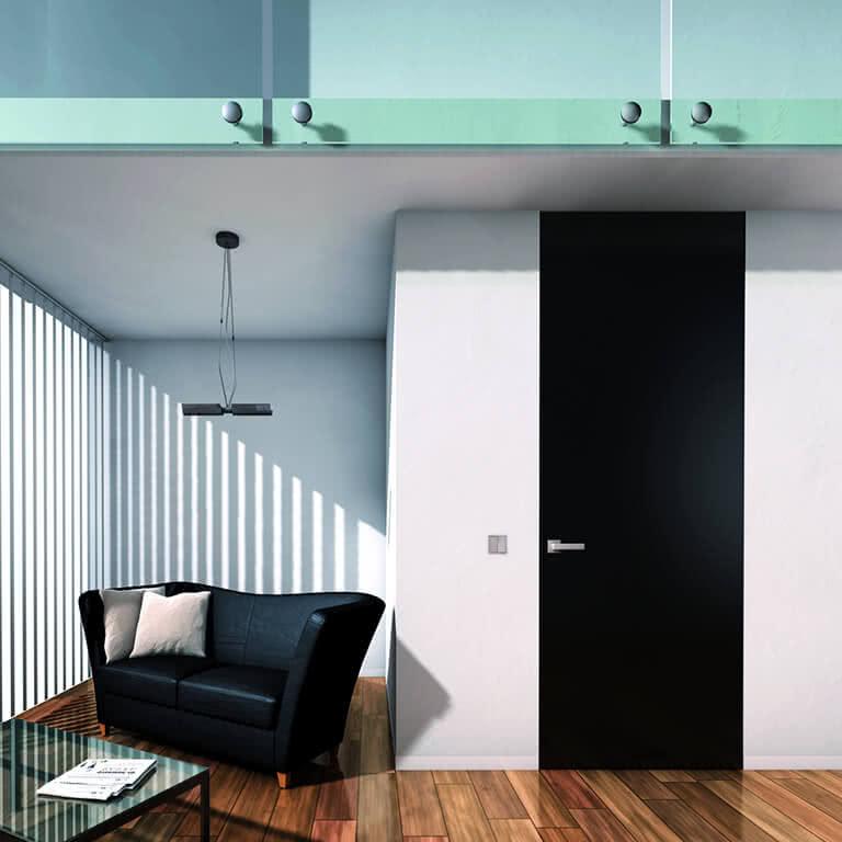 Wandbündige Tür