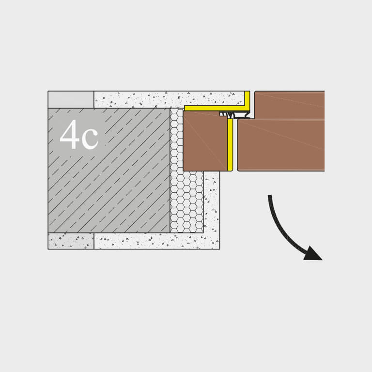 Zargensystem 4C FLAT-VD wandbündig
