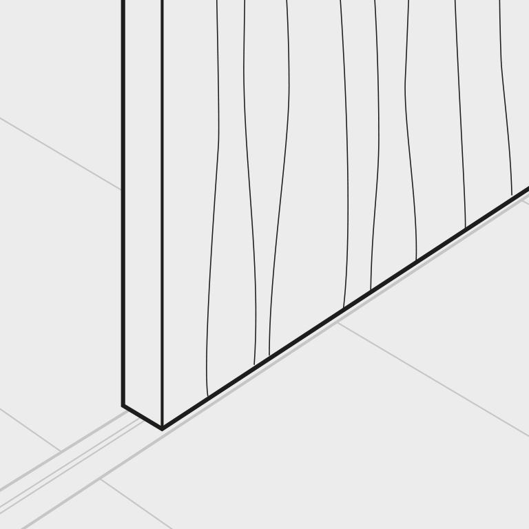 Holztür/Rahmenlose Gleittüren