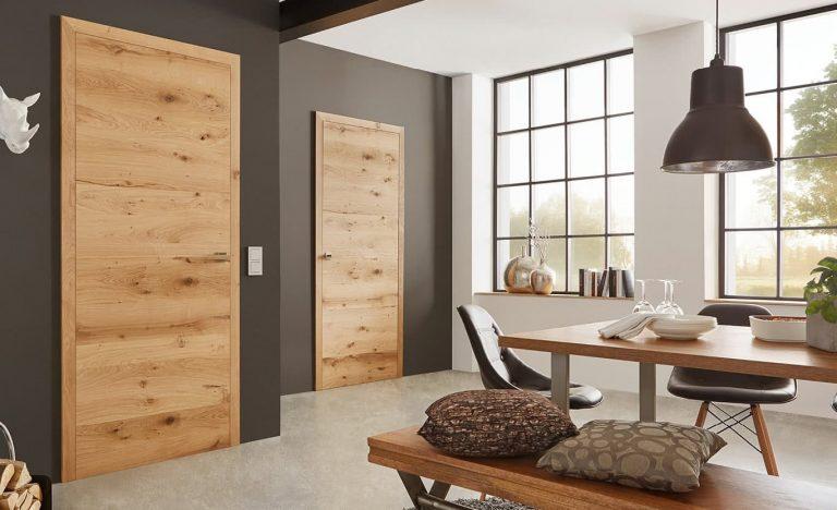 Furnier Türen Fachwerk Natur Stumpfe Tür