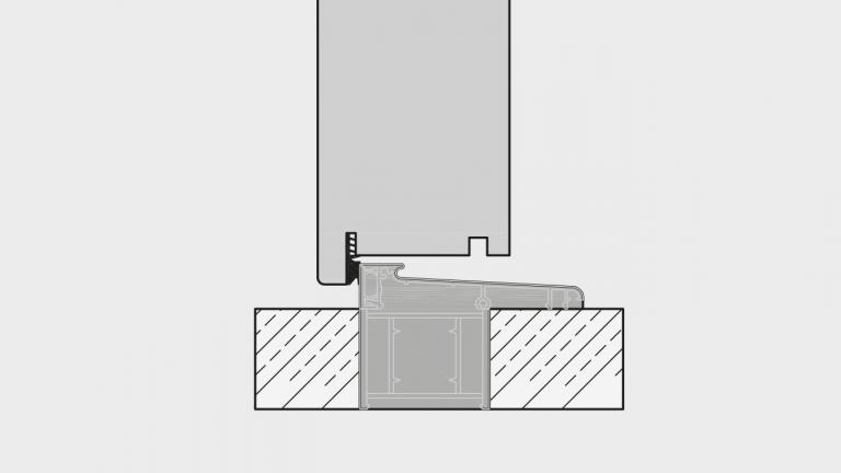 Neubau: Bodenschwelle mit thermischer Trennung