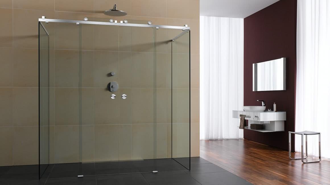 Duschsystem Claro mit Schiebetür