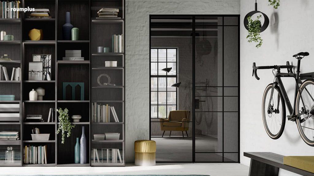 Glastür aus der Slim Line Serie